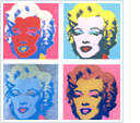 Your photo as a popart print in the style of Andy Warhol